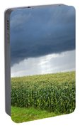 Storm Over Cornfield In Southern Germany Portable Battery Charger