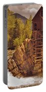 Storm Over Crystal Mill Portable Battery Charger