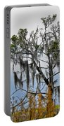 Stormy Marsh Cedar Tree Portable Battery Charger