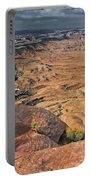 Stormy Skies In Canyonlands Portable Battery Charger