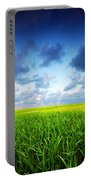 Stormy Summer Landscape Portable Battery Charger