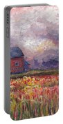 Stormy Sunflower Farm Portable Battery Charger