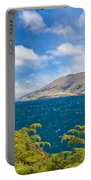 Stormy Surface Of Lake Wanaka In Central Otago On South Island Of New Zealand Portable Battery Charger