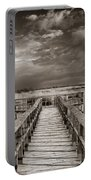 Stormy Weather At The Lake Vintage Portable Battery Charger