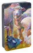 Stranger At The Well - Spring Lambs Sheep And Hen Portable Battery Charger