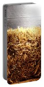 Straw Bale In Old Barn Portable Battery Charger