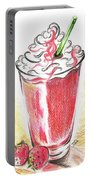 Strawberries And Cream Portable Battery Charger