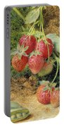 Strawberries And Peas Portable Battery Charger by John Sherrin