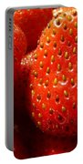 Strawberries Background Portable Battery Charger