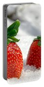 Strawberries On Ice  Portable Battery Charger