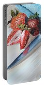 Strawberries With Knife Portable Battery Charger