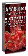 Strawberry Farm Portable Battery Charger