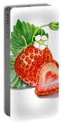 Strawberry Heart Portable Battery Charger