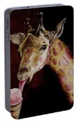 Strawberry Is My Favorite Portable Battery Charger by Diane Kraudelt