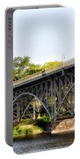 Strawberry Mansion Bridge And The Schuylkill River Portable Battery Charger