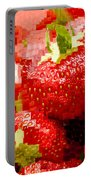 Strawberry Mosaic Portable Battery Charger