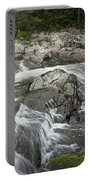 Stream With Waterfall In Vermont Portable Battery Charger