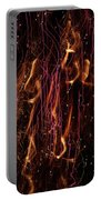 Streams Of Gold And Purple Portable Battery Charger