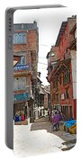 Street In Bhaktapur-city Of Devotees-nepal  Portable Battery Charger
