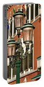 Street Lamps Of Venice Portable Battery Charger