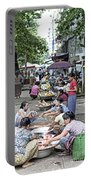 Street Market In Yangon Myanmar Portable Battery Charger