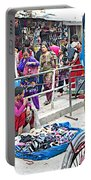 Street Market View From A Rickshaw In Kathmandu Durbar Square-nepal Portable Battery Charger