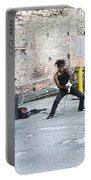 Street Musician Milan Italy Portable Battery Charger