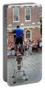 Street Performer Faneuil Hall Market Boston Portable Battery Charger