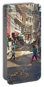 Street Scene In Kathmandu-nepal  Portable Battery Charger