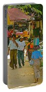 Street Scene In Tachilek-burma Portable Battery Charger