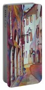 Street Scene Italy Portable Battery Charger