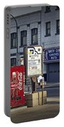 Street Scene With Coke Machine No. 2110 Portable Battery Charger