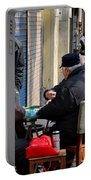 Street Scene With Mahjong Game Shanghai China Portable Battery Charger