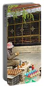 Street Shopkeeper In Lhasa-tibet Portable Battery Charger
