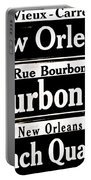 Street Sign Scenes Of New Orleans Portable Battery Charger
