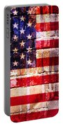 Street Star Spangled Banner Portable Battery Charger by Delphimages Photo Creations