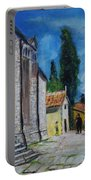Street View In Rovinj Portable Battery Charger
