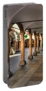 Street With Arches And Columns Portable Battery Charger