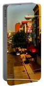 Street With Bus Stop Portable Battery Charger