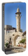 Street With Minaret In Tel Aviv Israel Portable Battery Charger
