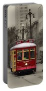 Streetcar On Canal Street - New Orleans Portable Battery Charger