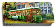 Streetcar On St.charles Avenue Portable Battery Charger
