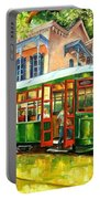 Streetcar On St.charles Avenue Portable Battery Charger by Diane Millsap