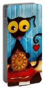 Stressie Cat And The Tick Tock Portable Battery Charger