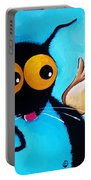 Stressie Cat Angel Portable Battery Charger