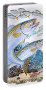 Striped Bass Rocks Portable Battery Charger