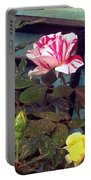 Striped Rose And Yellow 2 Portable Battery Charger