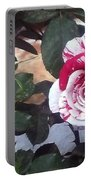 Striped Rose And Yellow Portable Battery Charger