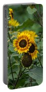 Striped Sunflower Portable Battery Charger