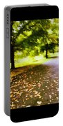 Stroll On An Autumn Lane Portable Battery Charger